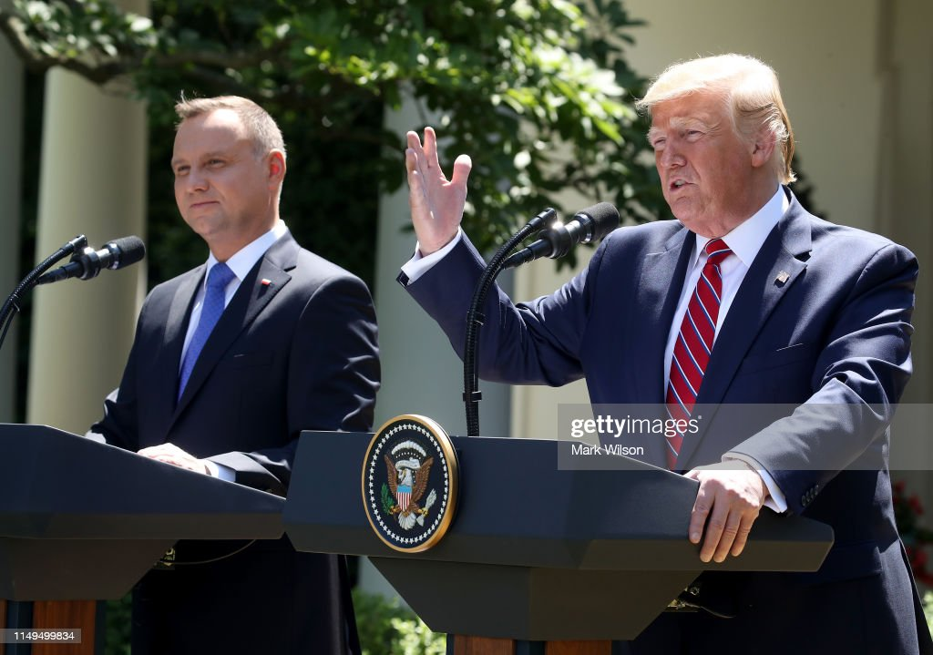 President Trump Holds Joint News Conference With Polish President Andrzej Duda : News Photo