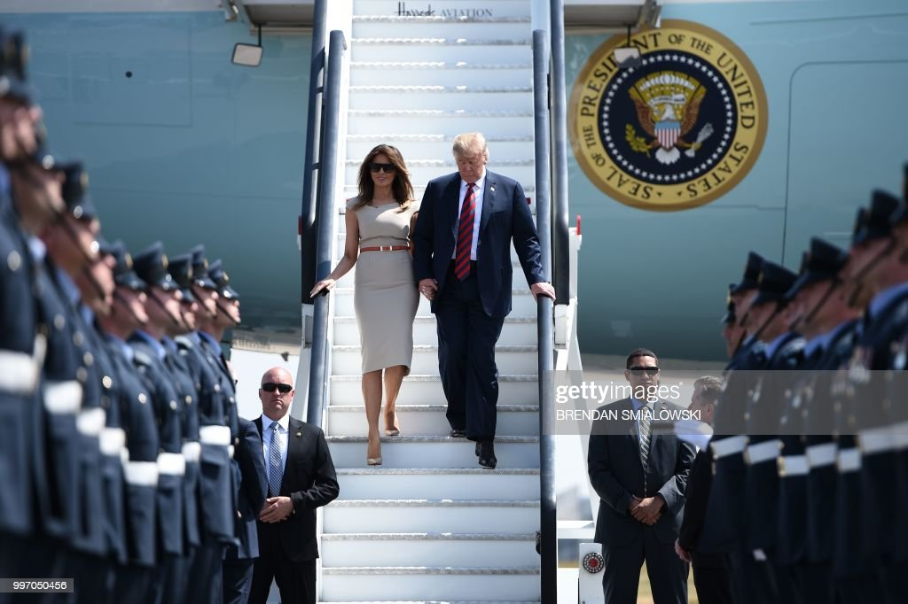 Donald Trump Arrives For UK Visit