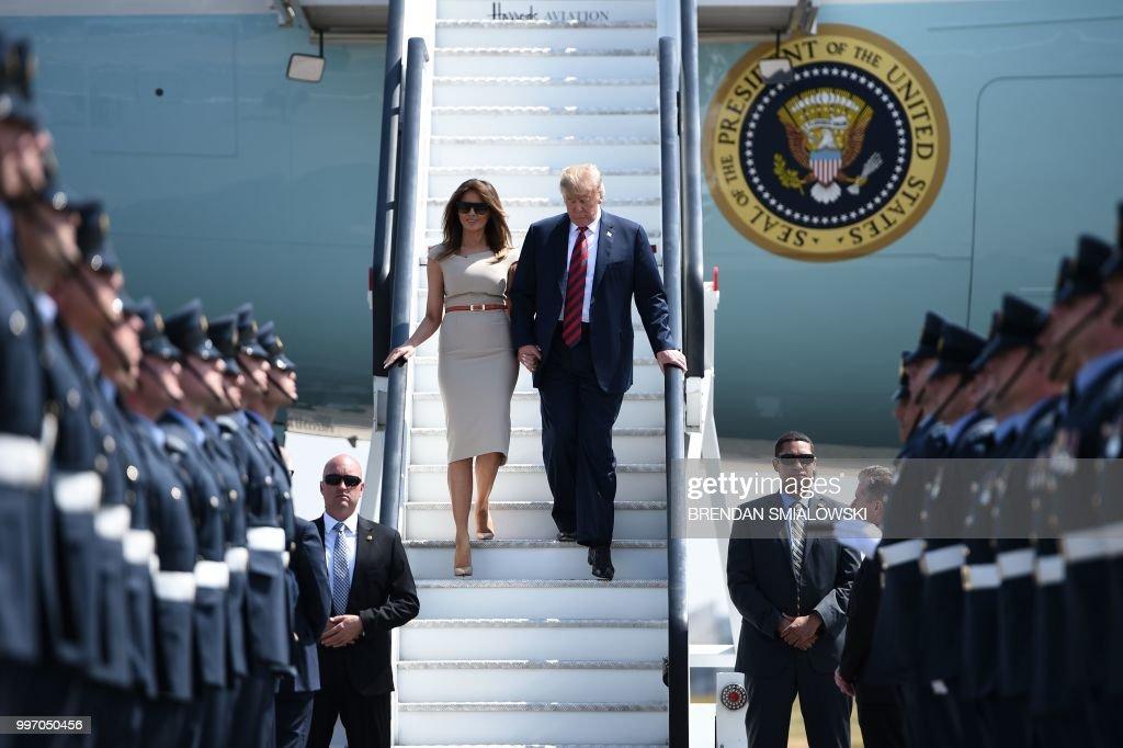 Donald Trump Arrives For UK Visit