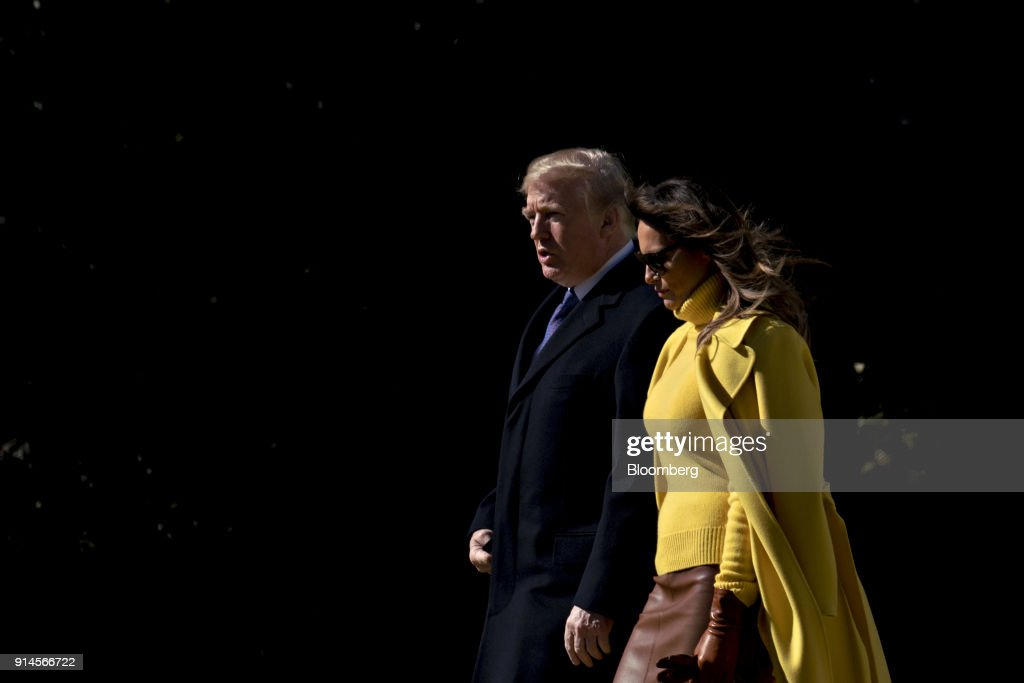 President Trump And First Lady Melania Depart The White House For Travel To Ohio : News Photo
