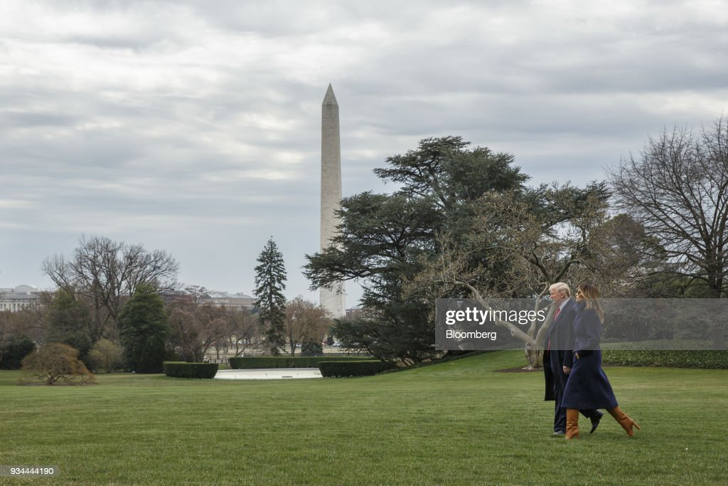 President Trump Departs The White House For Travel To New Hampshire