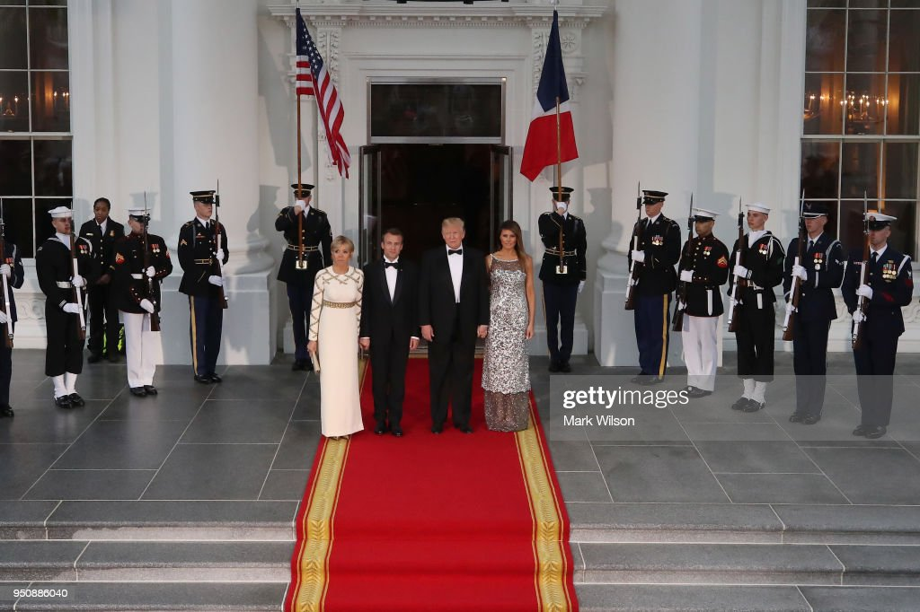 President Trump And First Lady Hosts State Dinner For French President Macron And Mrs. Macron : Fotografia de notícias