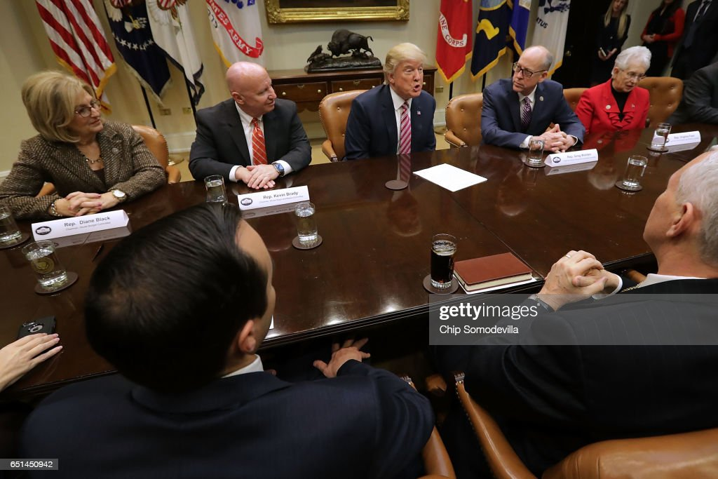 President Trump Discusses Healthcare Plan With Key House Committee Chairmen : News Photo