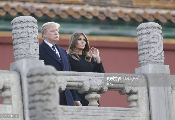 US President Donald Trump and wife Melania come to China for state visit on 08th November 2017 in Beijing China