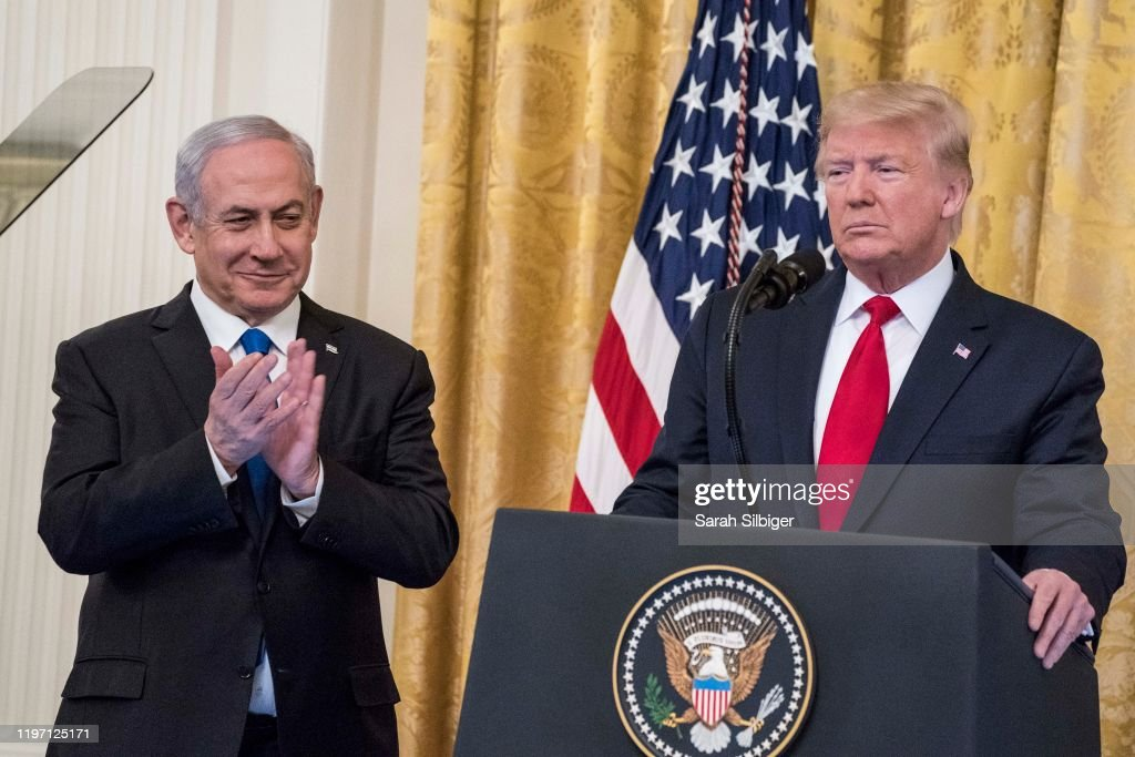 President Trump Meets With Israeli PM Netanyahu At The White House : News Photo
