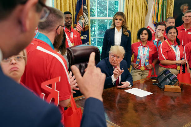 DC: President Trump And First Lady Hosts Members Of Special Olympics Team USA 2019