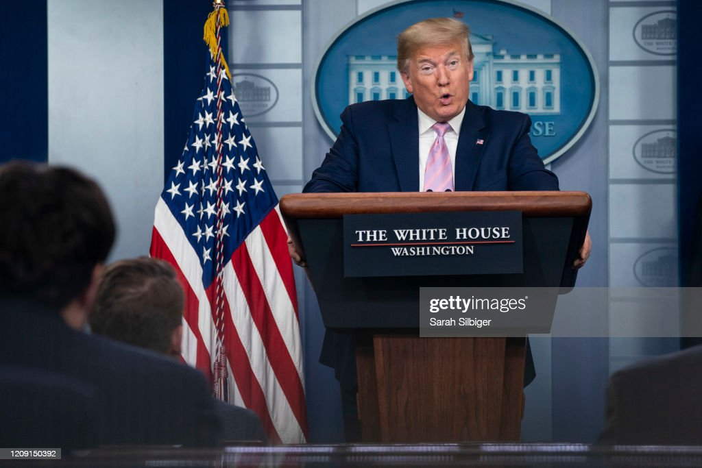 White House Coronavirus Task Force Speaks To The Media In Daily Briefing : News Photo