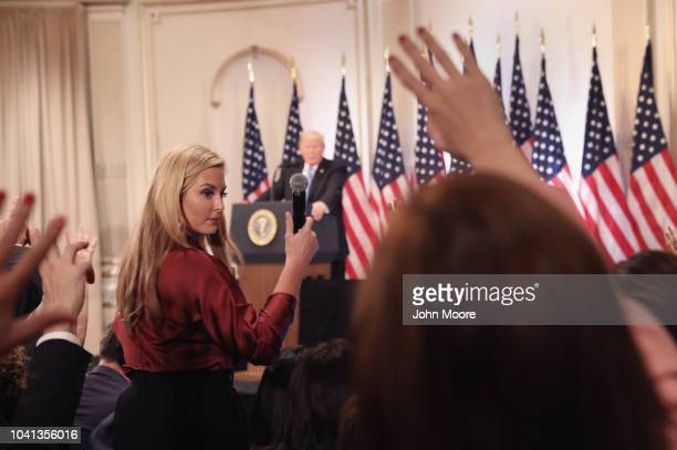 S President Donald Trump answers questions while holding a press conference on September 26 2018 in New York City The President held the news event...