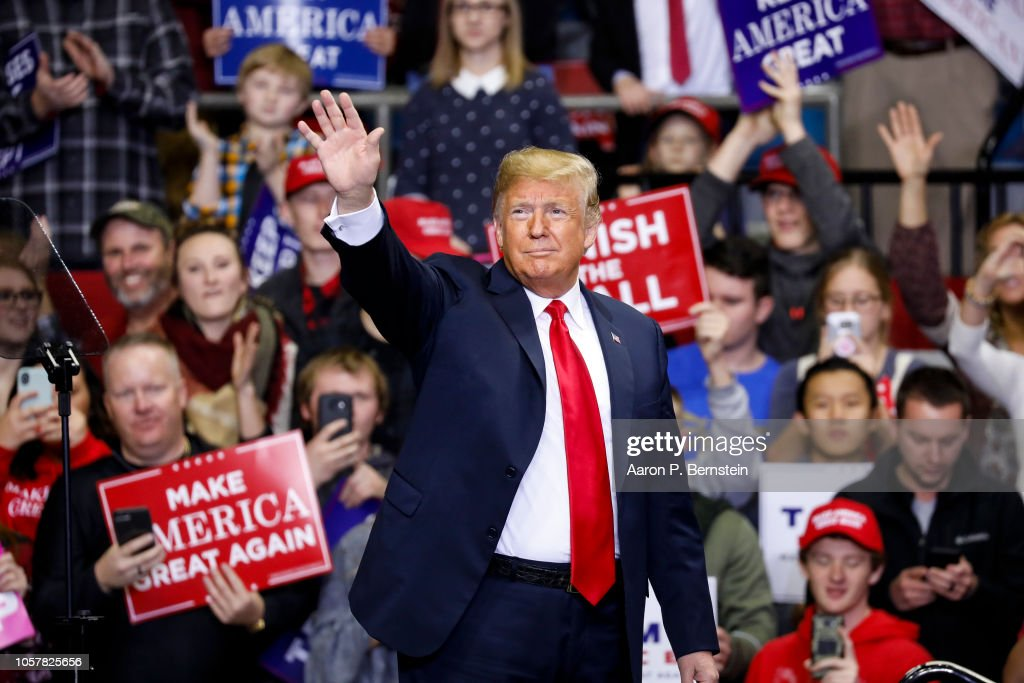 President Trump Holds Campaign Rally In Fort Wayne, Indiana : News Photo