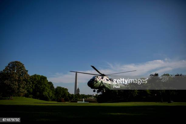 President Donald Trump arrives at The White House in Washington DC on Friday April 28 2017 Photo by Eric ThayerPool/Getty Images
