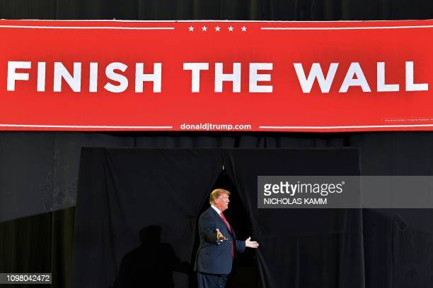 President Donald Trump arrives for a rally in El Paso Texas on February 11 2019