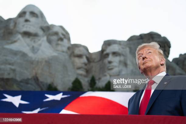 President Donald Trump arrives for the Independence Day events at Mount Rushmore National Memorial in Keystone South Dakota July 3 2020