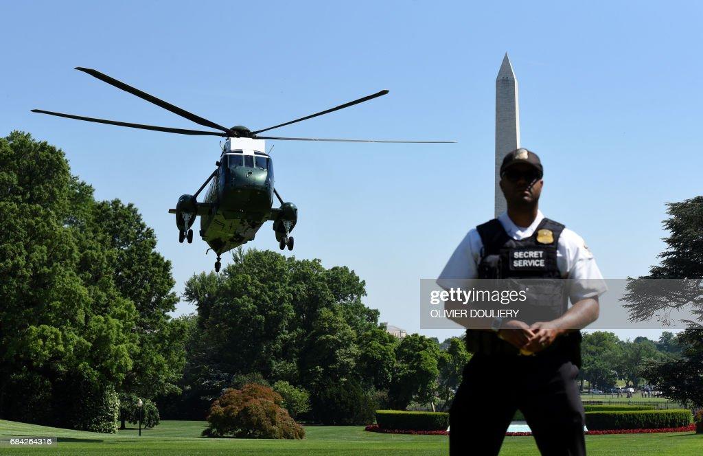 US-POLITICS-TRUMP-ARRIVAL : News Photo