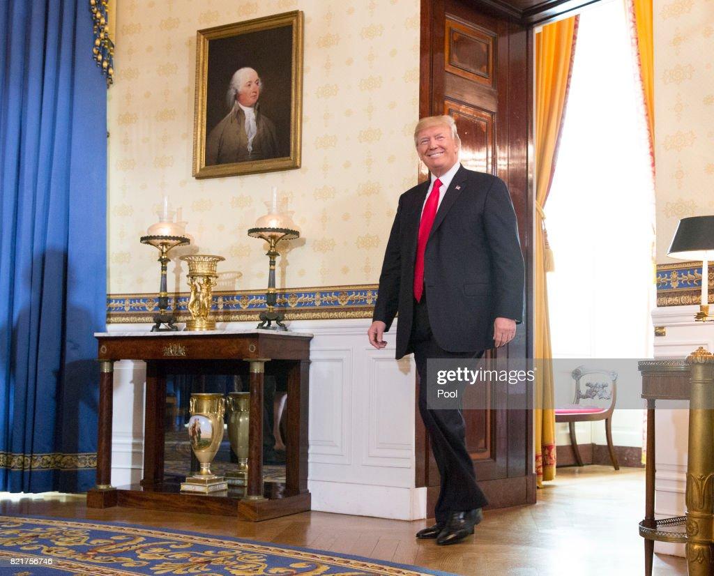President Trump Makes Statement On Health Care : News Photo