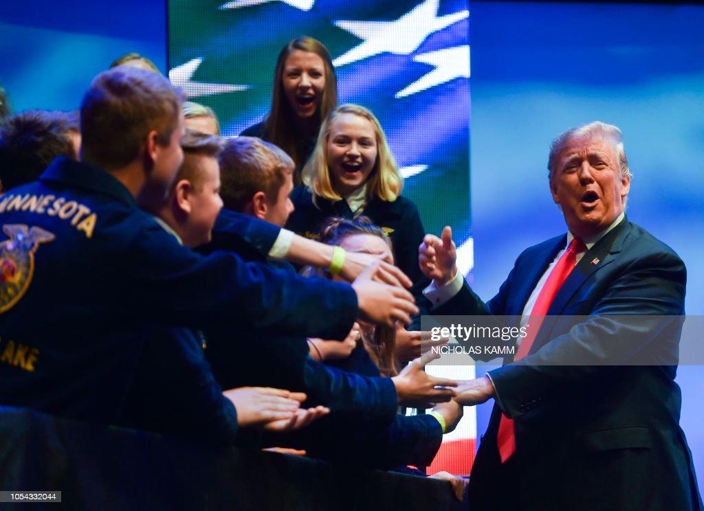 US-POLITICS-TRUMP-FARMERS : News Photo