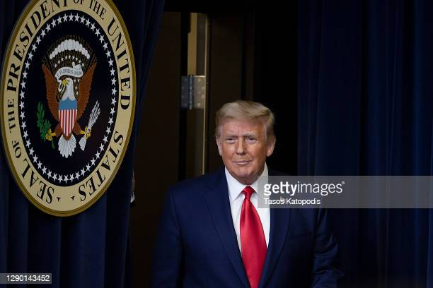 President Donald Trump arrives to speak at the Operation Warp Speed Vaccine Summit. On December 08, 2020 in Washington, DC. The president signed an...