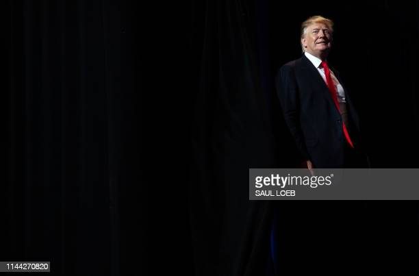 President Donald Trump arrives to speak during the National Association of Realtors Legislative Meetings and Trade Expo in Washington DC May 17 2019