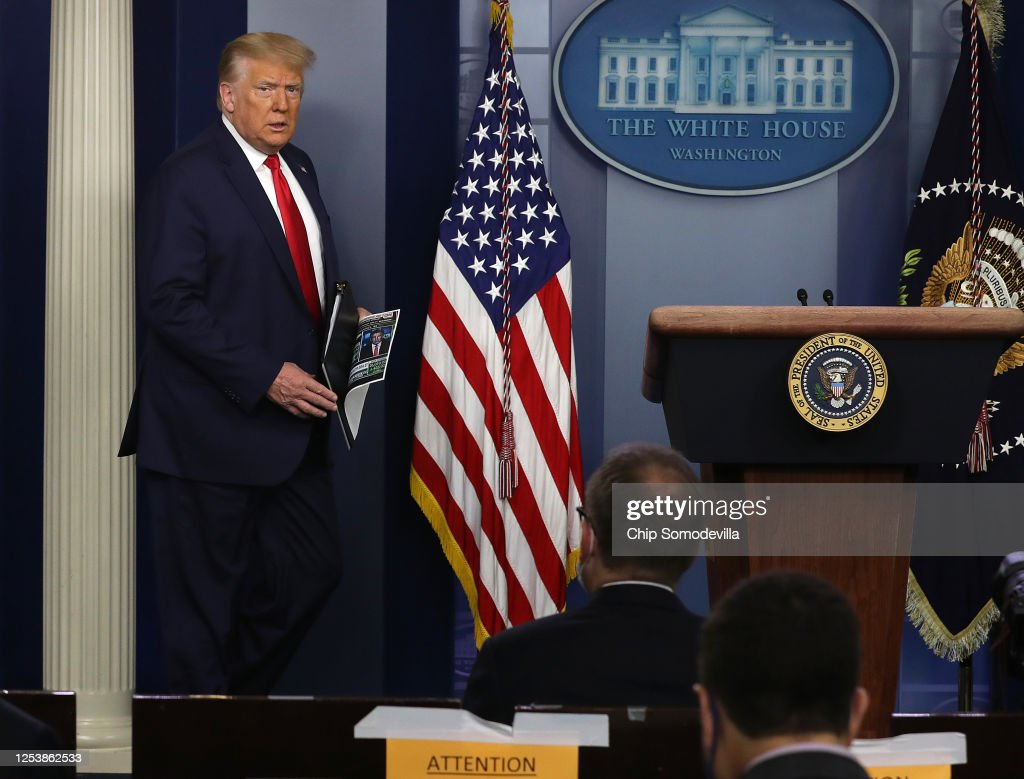 President Trump Holds Briefing At The White House : News Photo