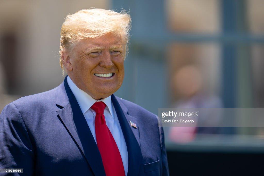 President Trump Speaks At West Point Graduation Ceremony : News Photo