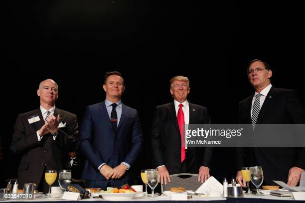 US President Donald Trump at the National Prayer Breakfast February 2 2017 in Washington DC Every US president since Dwight Eisenhower has addressed...