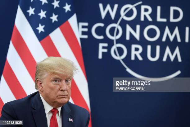 US president Donald Trump attend a bilateral meeting during the World Economic Forum annual meeting in Davos on January 21 2020