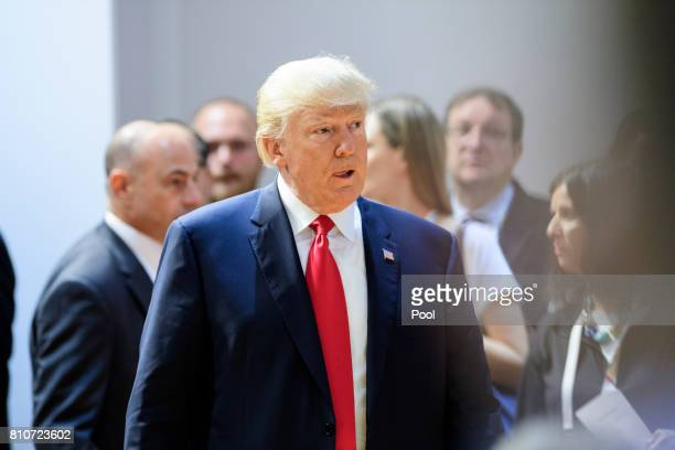 President Donald Trump attends a panel discussion titled 'Launch Event Women's Entrepreneur Finance Initiative' on the second day of the G20 summit...