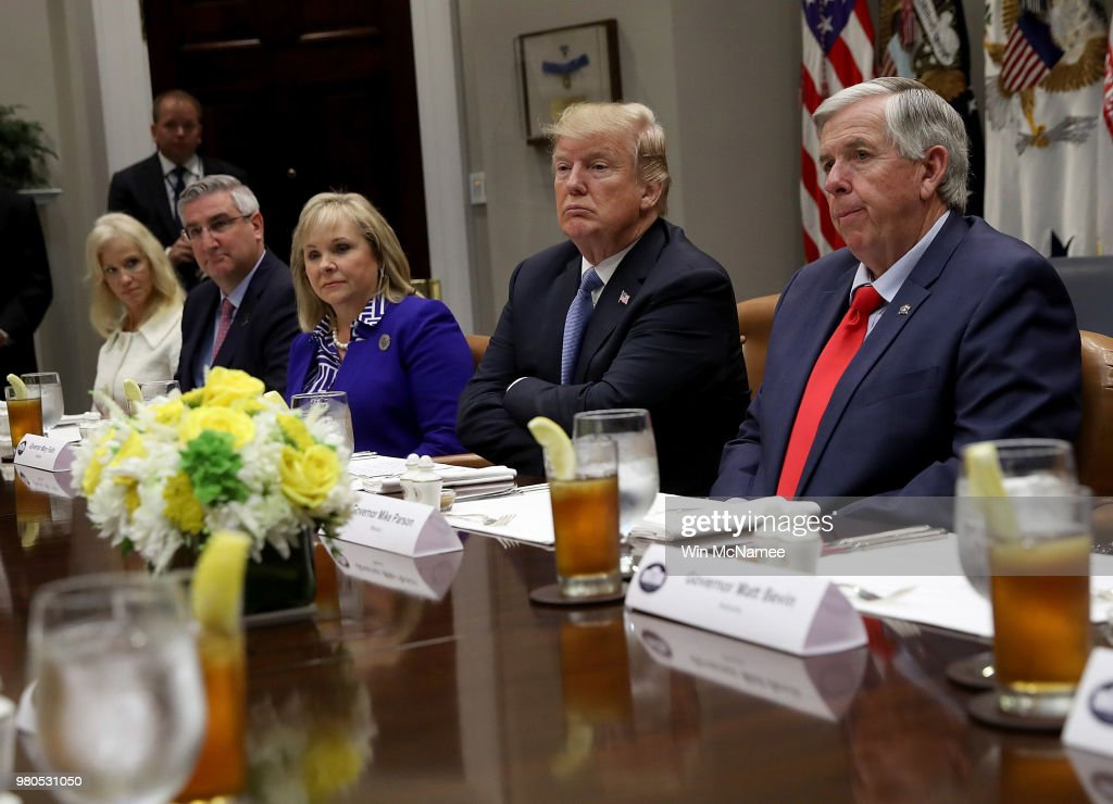 President Trump Holds Meeting With Governors At The White House