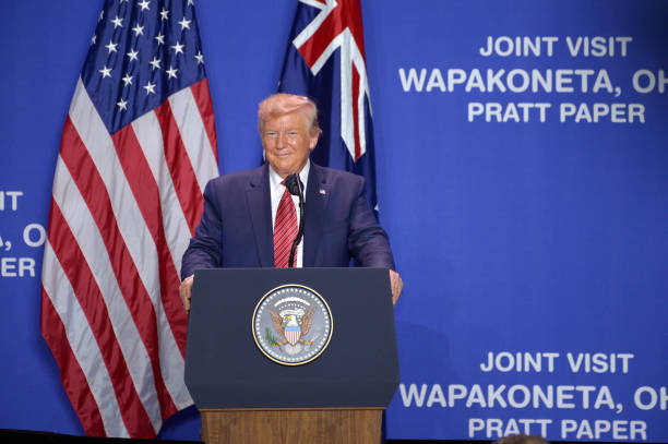 OH: U.S. President Donald Trump Delivers Remarks At Pratt Industries