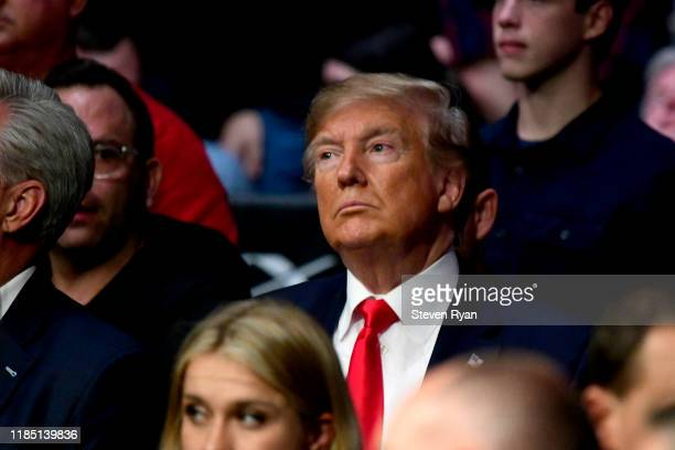 S President Donald Trump attends UFC 244 at Madison Square Garden on November 02 2019 in New York City