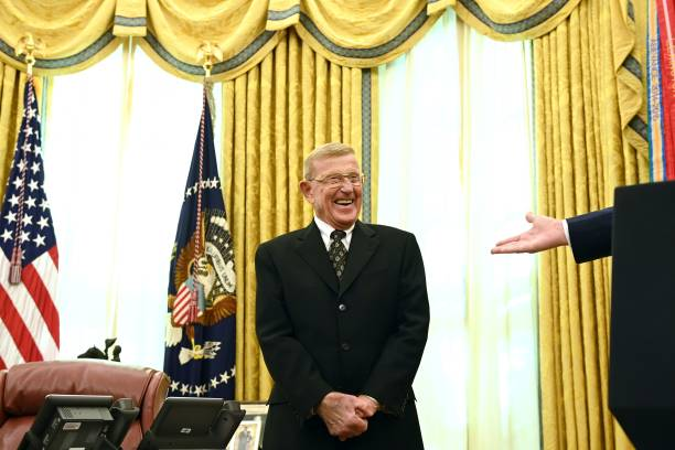 DC: President Trump Awards Presidential Medal Of Freedom To Coach Lou Holtz