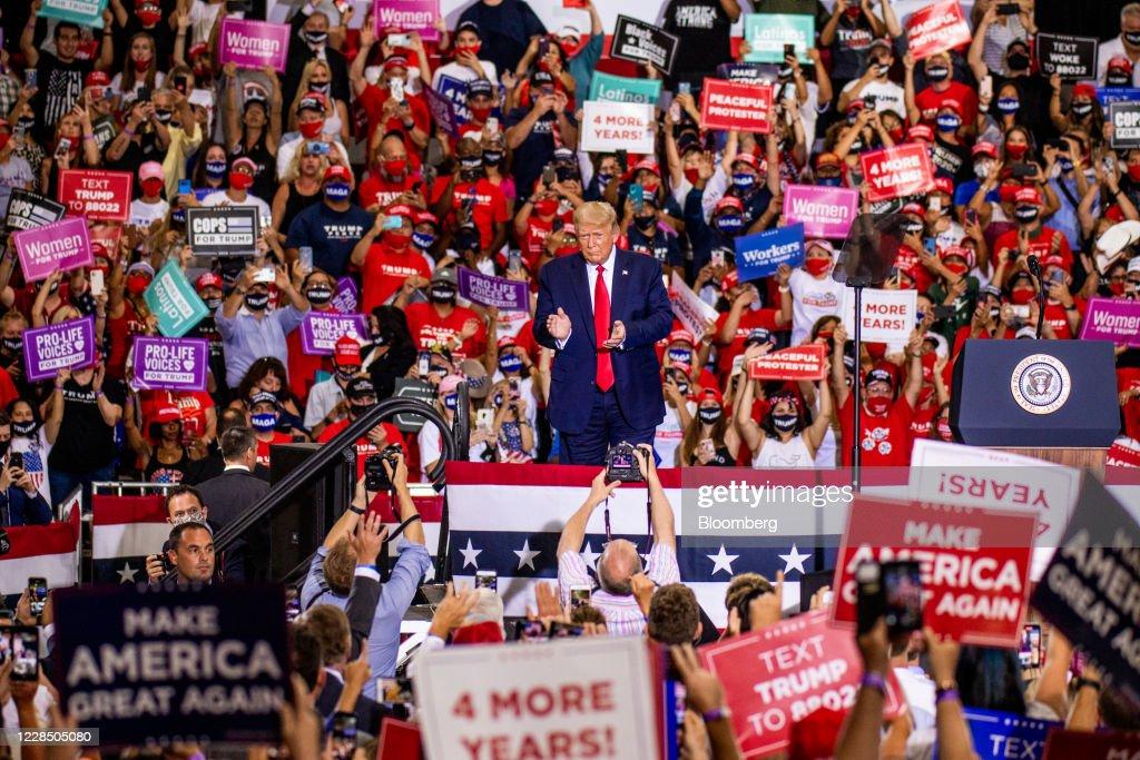 President Trump Hosts 'Great American Comeback' Rally : News Photo