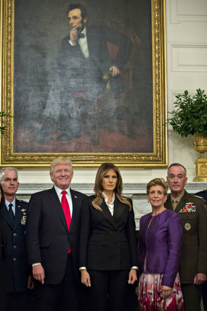 president trump participates in briefing with senior military