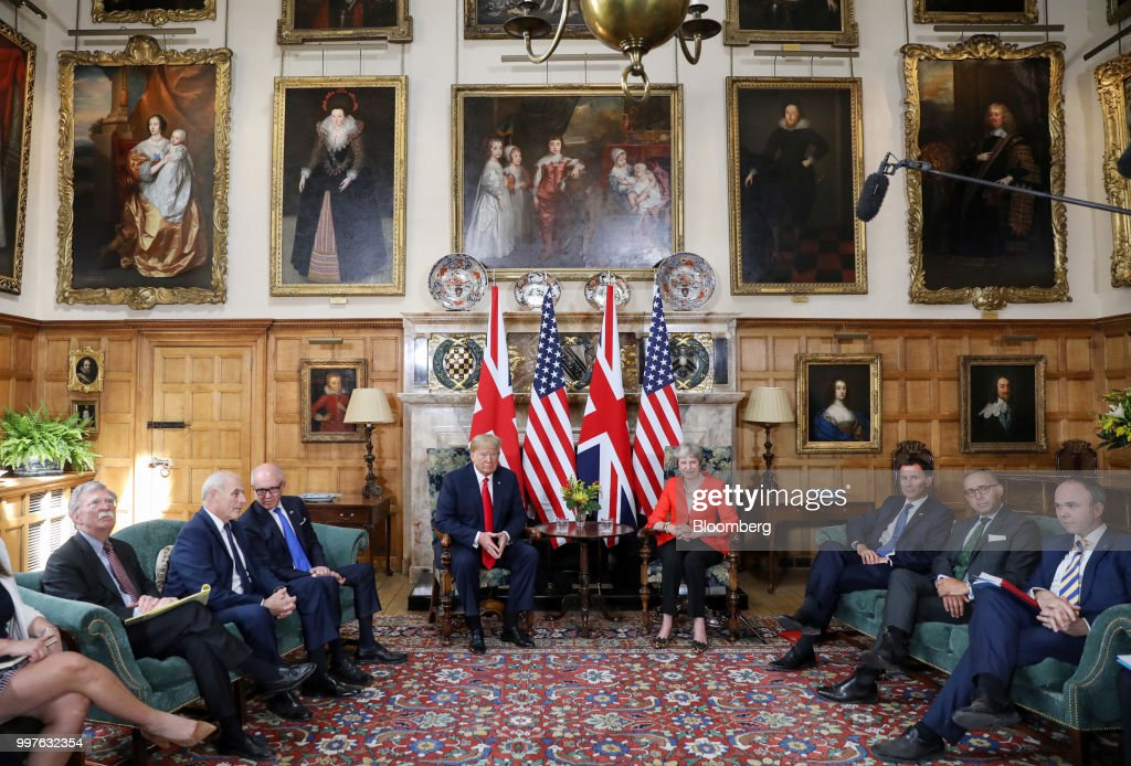 U.S. President Trump Meets U.K. Prime Minister May At Her Chequers Country Residence