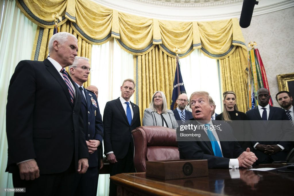 DC: President Trump Holds Signing Ceremony For Space Policy Directive 4