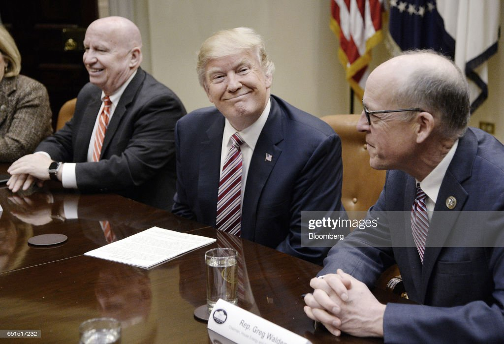 President Trump Leads Health Care Discussion With House Committee Chairs : News Photo
