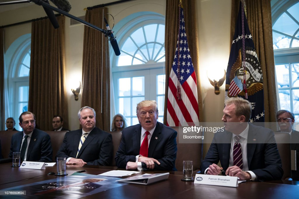President Trump Holds Cabinet Meeting At White House : News Photo