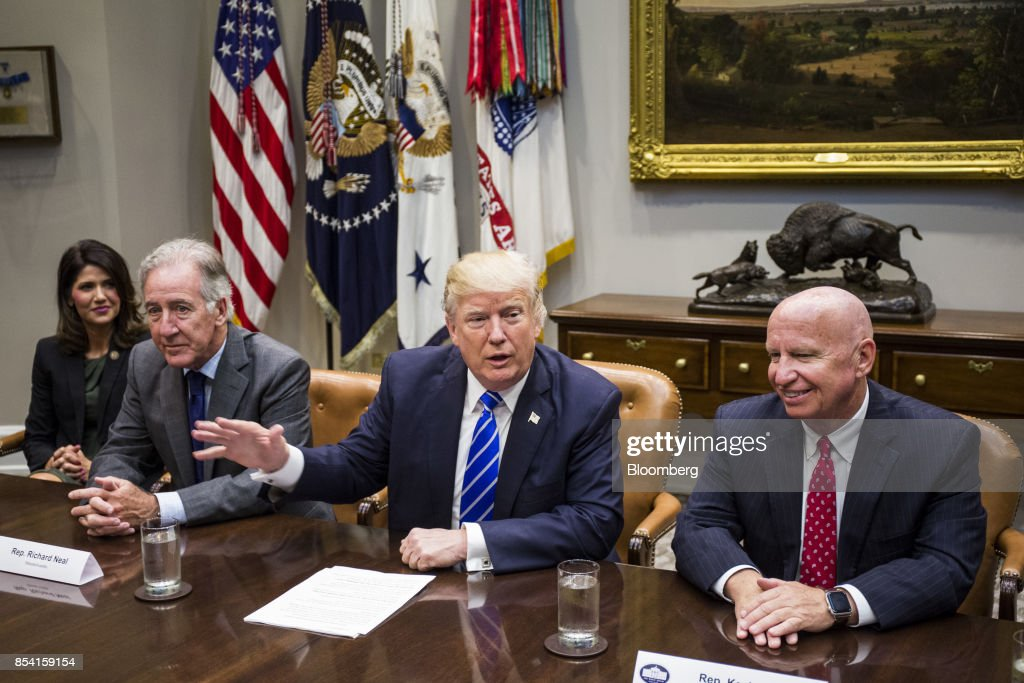 President Trump Meets With Bipartisan Members Of The House Ways And Means Committee : News Photo