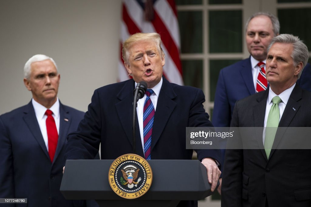 President Trump Holds New Conference Following Congressional Leader Meeting Amid Shutdown : News Photo