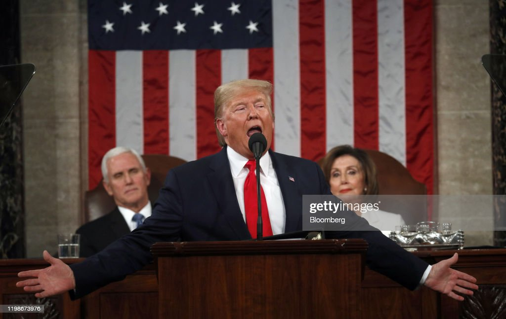 President Trump Delivers State Of The Union Address : ニュース写真