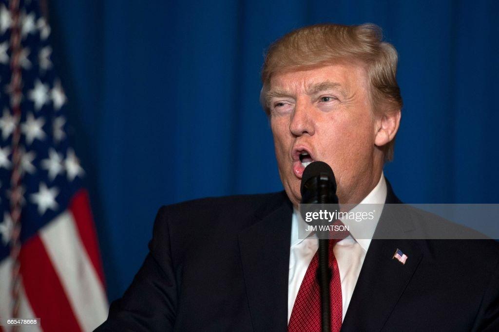 US-SYRIA-CONFLICT-MILITARY-STRIKE-TRUMP : News Photo