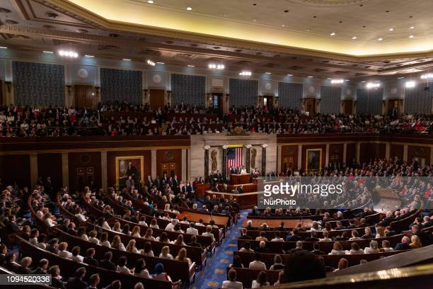 US President Donald Trump delivers his second State of the Union address to a joint session of Congress at the US Capitol in Washington DC on Tuesday...