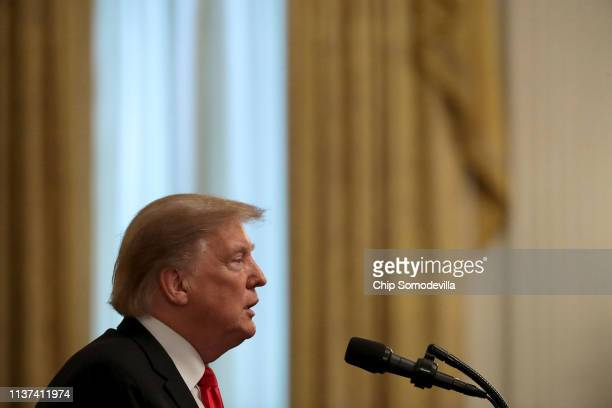 S President Donald Trump delivers remarks before siging an executive order protecting freedom of speech on college campuses during a ceremony in the...
