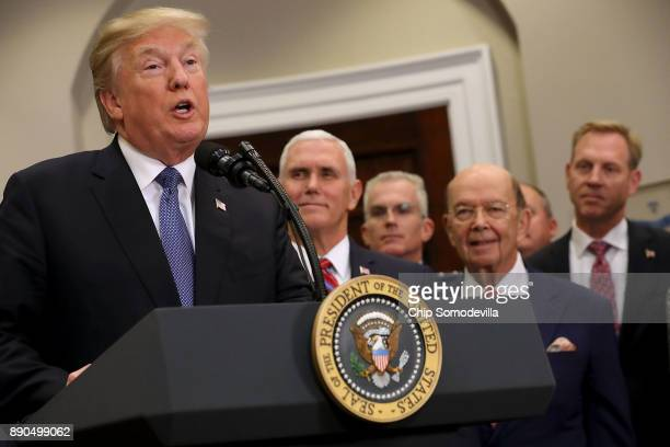 S President Donald Trump delivers remarks before signing 'Space Policy Directive 1' with Vice President Mike Pence Vice Chairman of the Joint Chiefs...