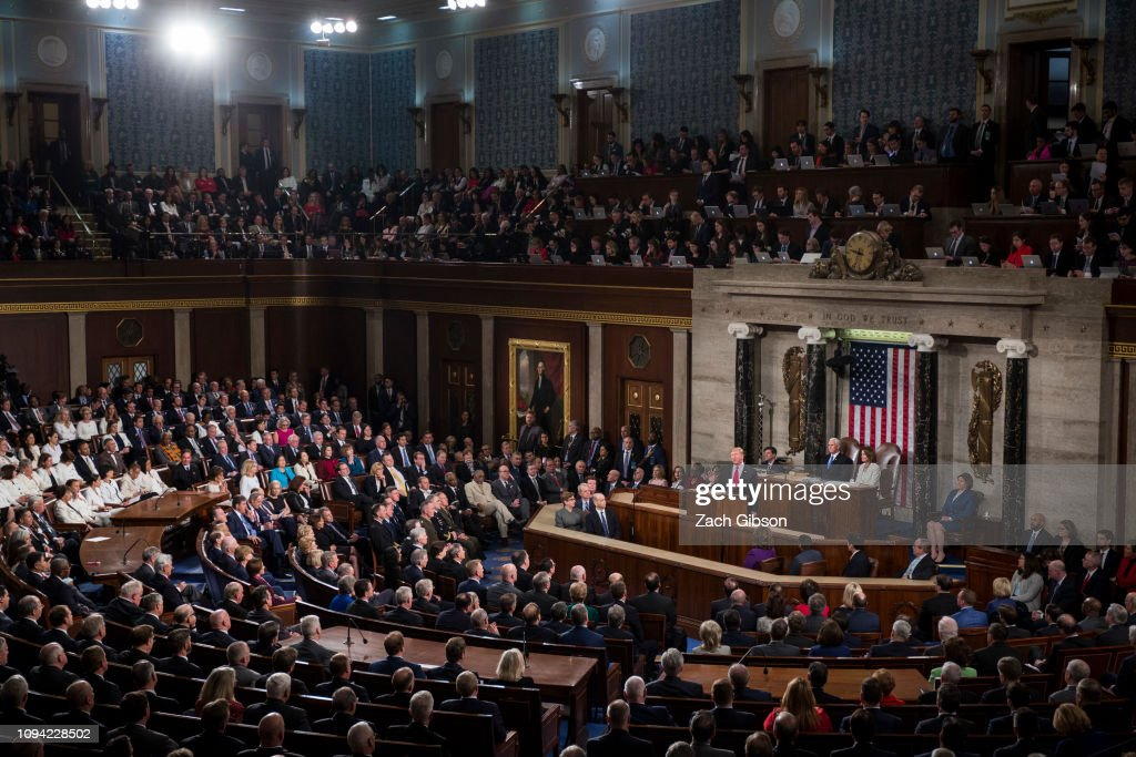 President Trump Delivers State Of The Union Address To Joint Session Of Congress : News Photo