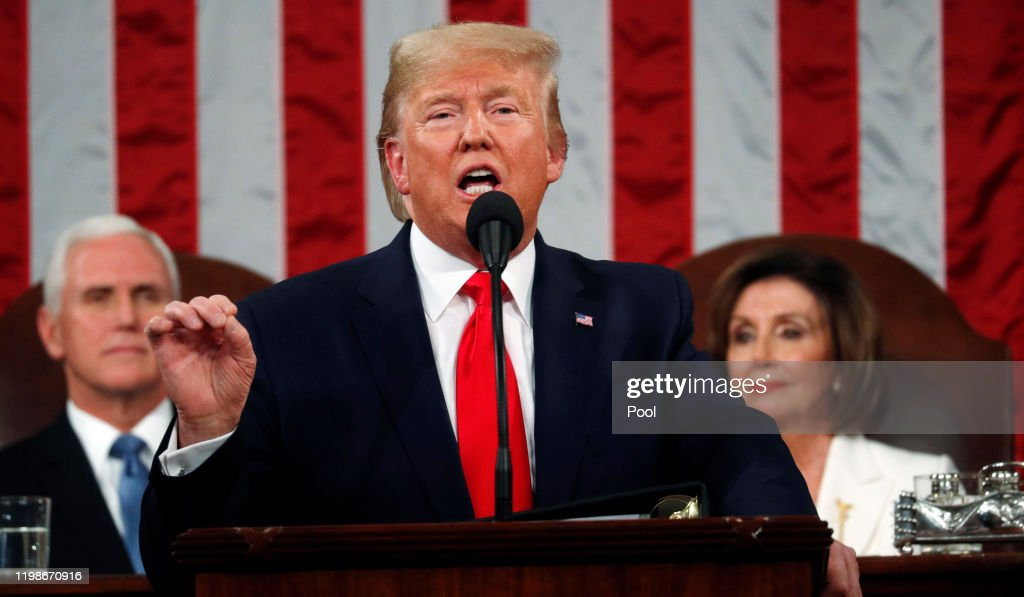 President Trump Gives State Of The Union Address : News Photo