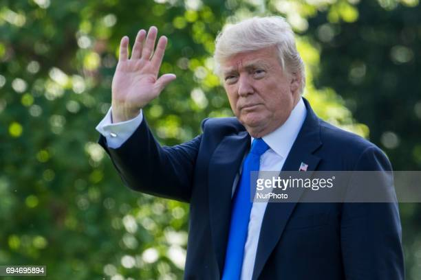 President Donald Trump departed from the South Lawn of the White House on Marine One on Friday June 9 2017