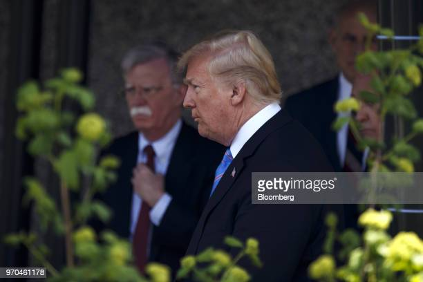 US President Donald Trump departs a meeting during the Group of Seven Leaders Summit in La Malbaie Quebec Canada on Saturday June 9 2018...