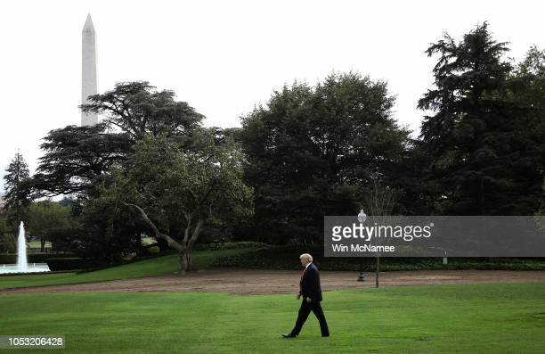 S President Donald Trump departs the White House October 10 2018 in Washington DC Trump is scheduled to attend a campaign event in Pennsylvania later...