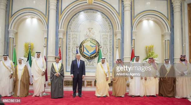 US President Donald Trump Deputy Prime Minister of the Sultanate of Oman Sayyid Fahd bin Mahmoud al Said Emir Of Qatar Sheikh Tamim bin Hamad Al...