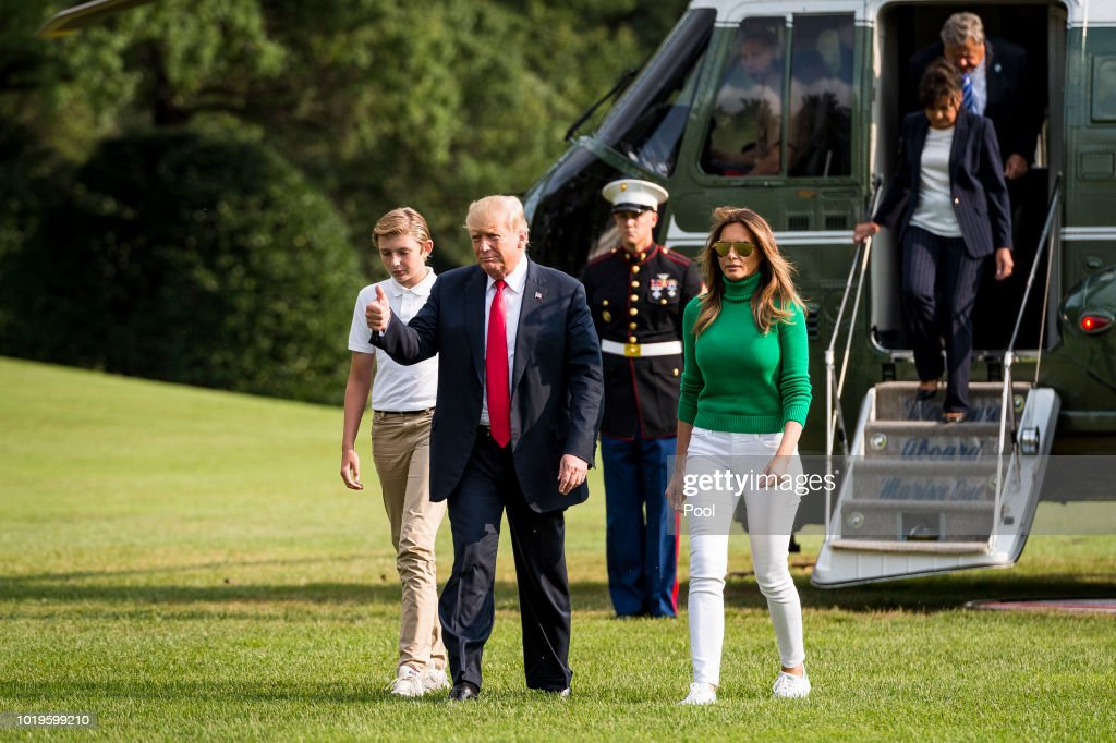 President Trump Returns To White House From Bedminster New Jersey : News Photo